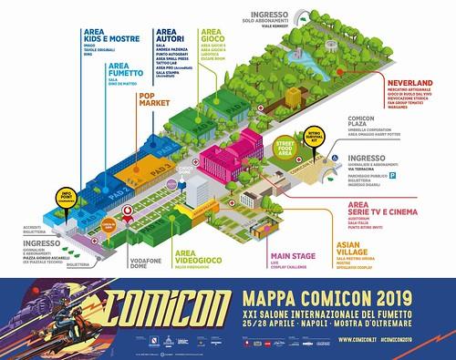 Comicon 2019 - Mappa