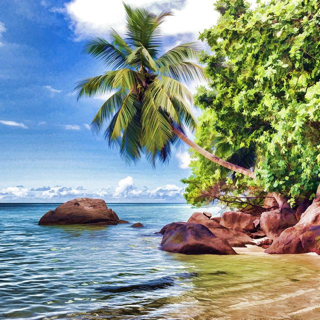 Pastel beach / Пастельный пляж