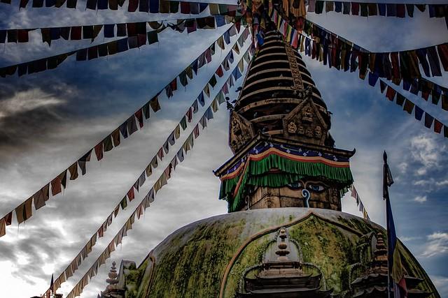 A Buddhist Stupa In Kathmandu