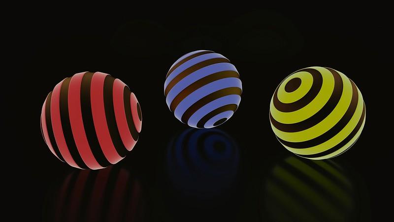 Обои шары, шар, полосы, свечение картинки на рабочий стол, фото скачать бесплатно