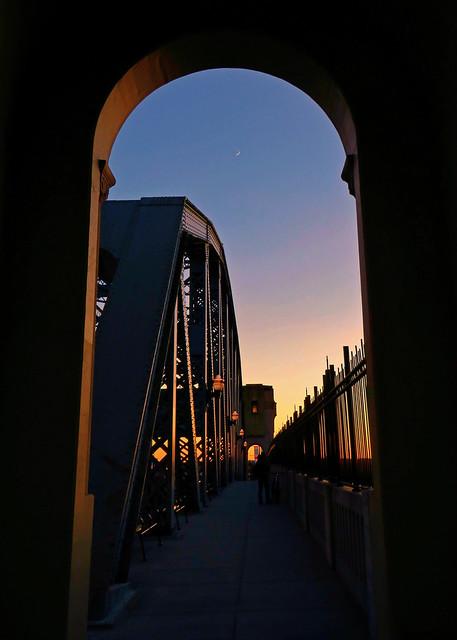 Burrard Bridge at sunset