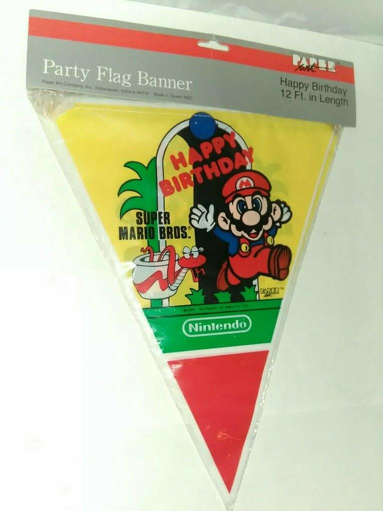Paper Art Company Super Mario Bros Happy Birthday Party Fl Flickr