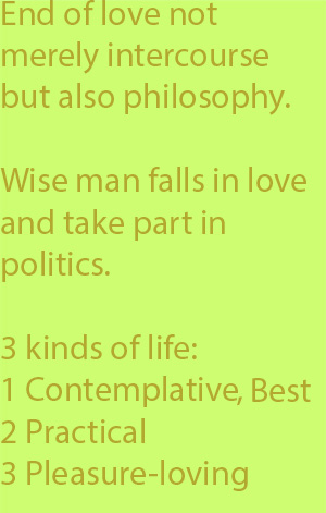 5-1 three kinds of life, the contemplative, the practical, and the pleasure-loving  copy