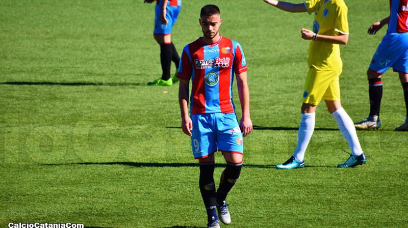 Riccardo Pappalardo, attaccante catanese, in una foto di repertorio