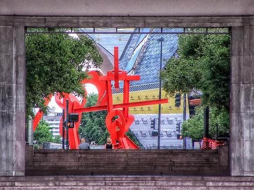 Abstract View ~ Frederic C. Hamilton Building, Under Construction ~ 2005  Denver Art Museum Colorado | by Onasill ~ Bill Badzo - OFF