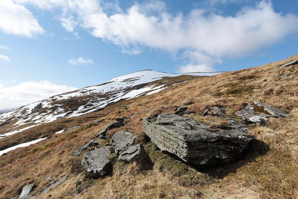 On the East Ridge of Meall Ghaordaidh
