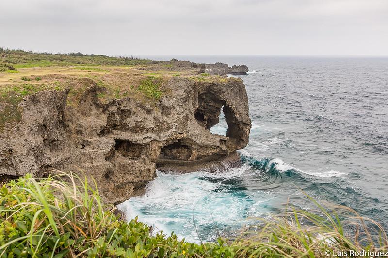Cabo Manzamo, en la isla principal de Okinawa