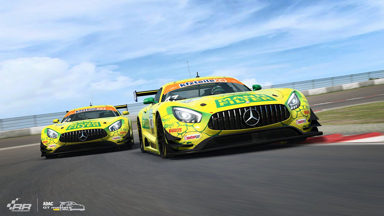 4 RaceRooom Mercedes-AMG teams of ADAC GT Masters 2018