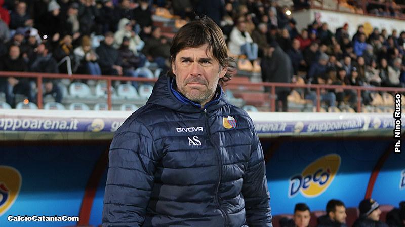 Andrea Sottil durante l'esperienza sulla panchina del Catania