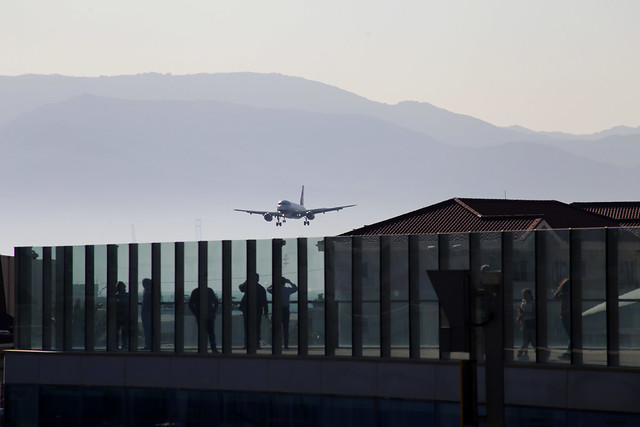 British Airways Airbus A320 approaching Gibraltar