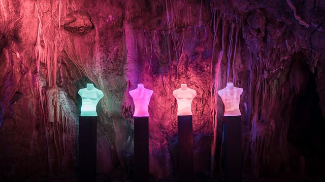 Höhlenlichter in der Dechenhöhle No. 1
