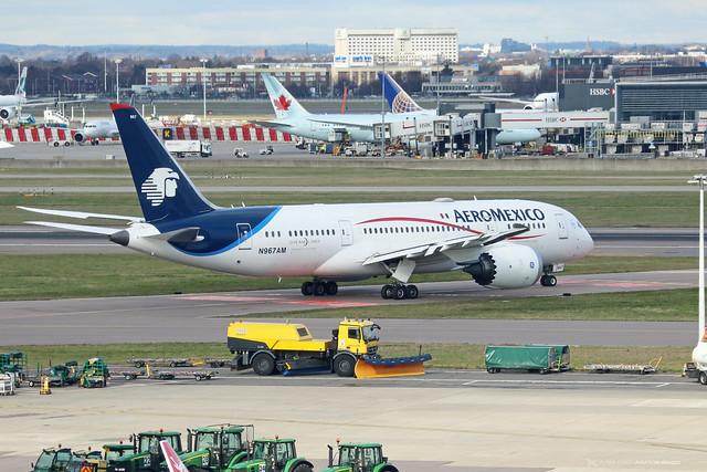 N967AM  -  Boeing 787-8 dreamliner  -  Aeromexico  -  LHR/EGLL 11-2-19