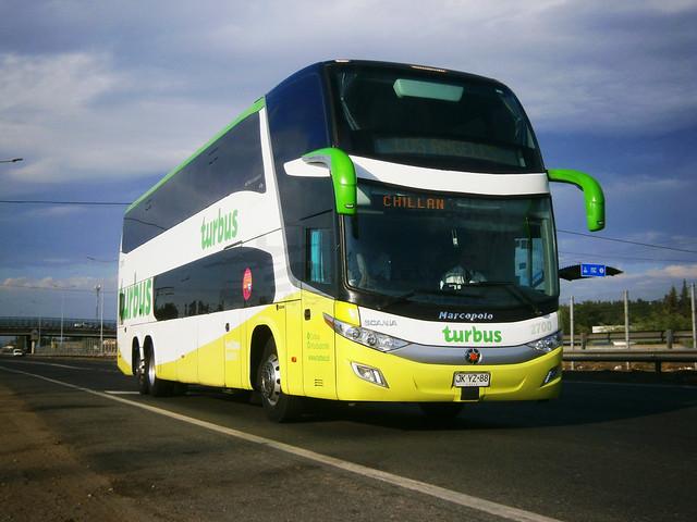 Turbus (N°2700): Marcopolo Paradiso 1800DD G7 - Scania K-400 (JKYZ88).