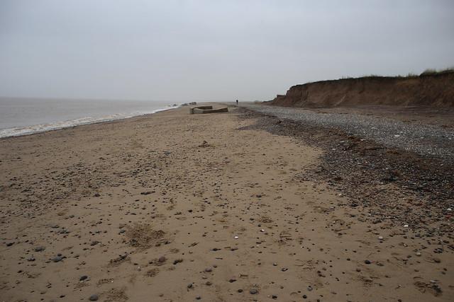 The coast south of Easington