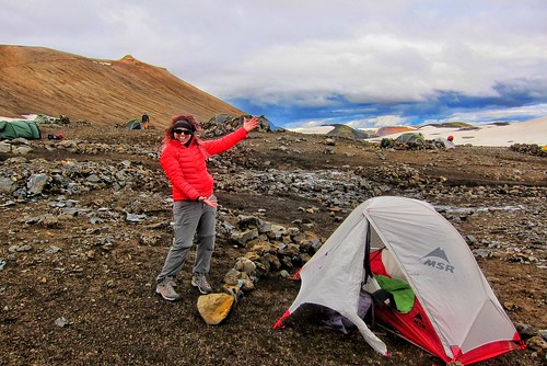 Iceland ~ Landmannalaugar Route ~  Ultramarathon is held on the route each July ~ Camp Site | by Onasill ~ Bill Badzo