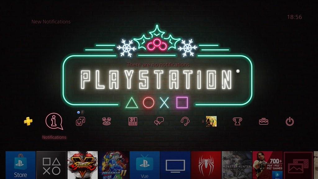 Интерфейс игровой приставки Sony PlayStation