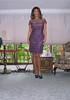 Purple cocktail dress by brinamactavish