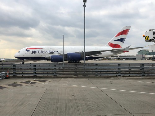 A380 Taxing from T5 at Heathrow | by Phil & Catherine Wilkins
