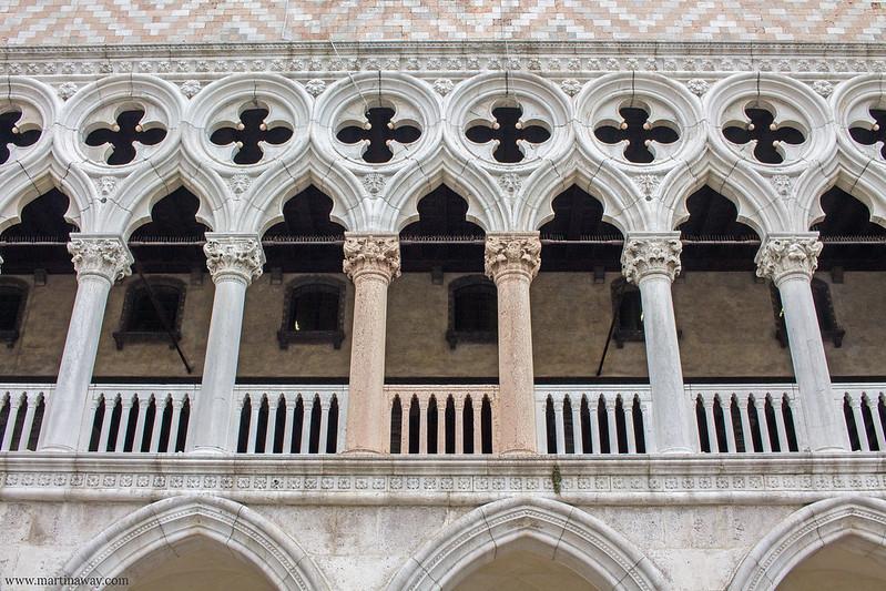 Colonne rosa di Palazzo Ducale
