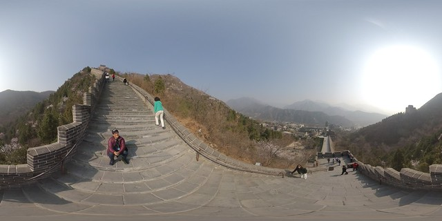 360˚ VR photos atop the Great Wall of China on Tuesday, March 19, 2019