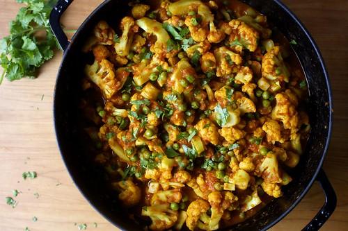 cauliflower and peas masala   by smitten kitchen
