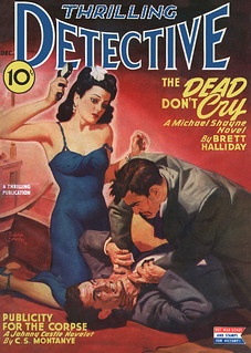 Thrilling Detective v53 n03 [1944-12] cover   by Siren in the Night