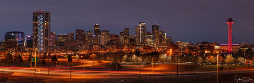 colorado city denver panoramic skyline jclay sunset