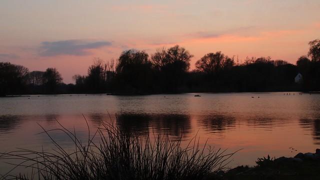 Sunset Droomvijver Hoensbroek.
