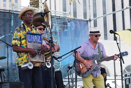 Tin Men on Day 1 of French Quarter Fest - 4.11.19. Photo by Bill Sasser.
