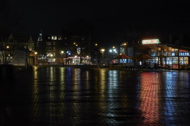 City center Nijmegen at night