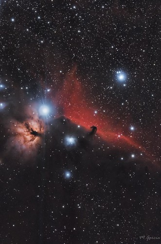 B33/IC434/NGC2024 (Nebulosa cabeza de caballo y la flama) | by Miguel Garcia.