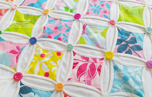 Cathedral windows quilt wip | by Carina » Polka & Bloom