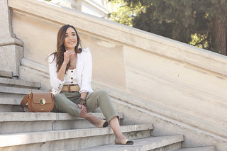 khaki trousers tweed trousers louis vuitton street style casual outfit 20195 | by BeSugarandSpice