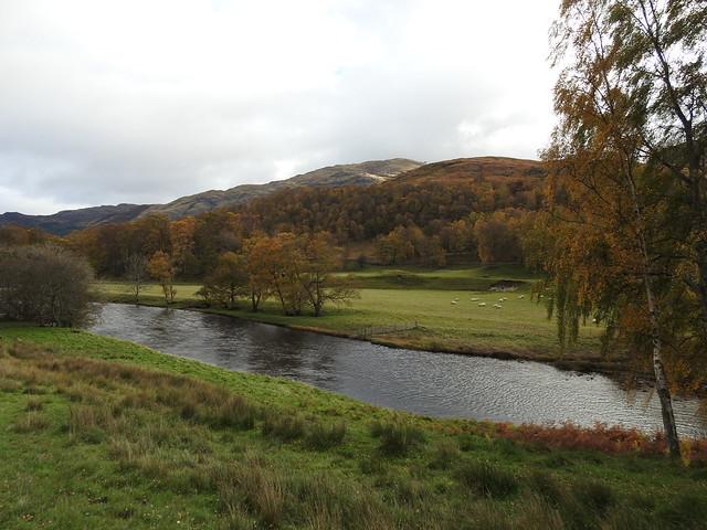 River Lyon in Perthshire, Scotland - October 2018