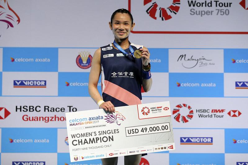 戴資穎贏得馬來西亞3連霸(達志影像)