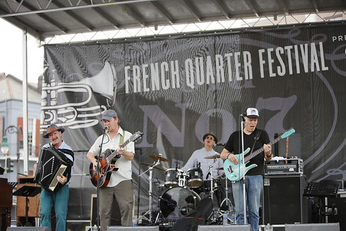 Alex McMurray on Day 2 of French Quarter Fest - 4.12.19. Photo by Michele Goldfarb.