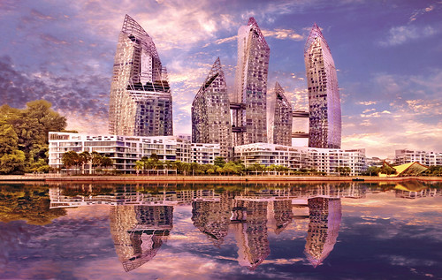 Singapore - Reflections at Keppel Bay   by mccrya