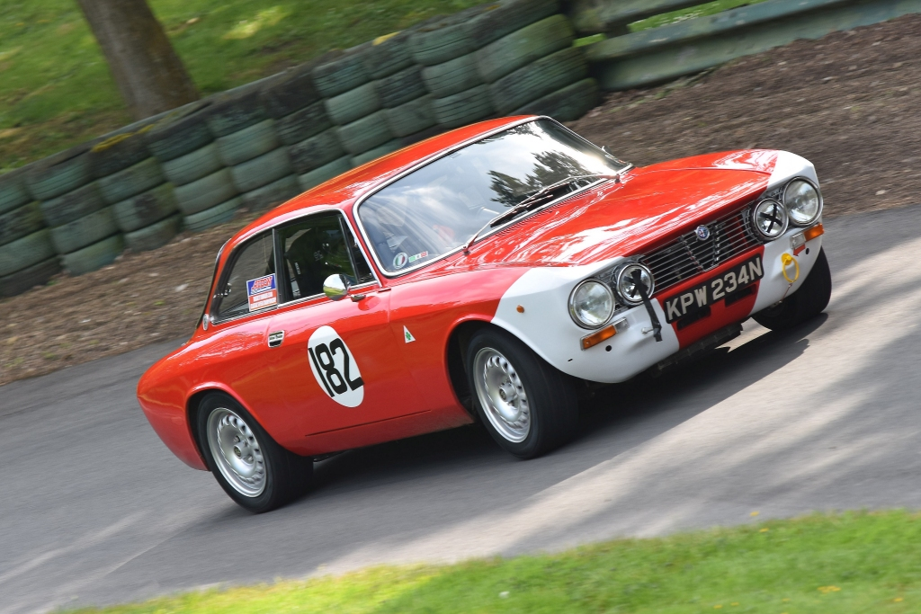 The Alfa GT Junior of Terry Clifford at Prescott (D Garnett)