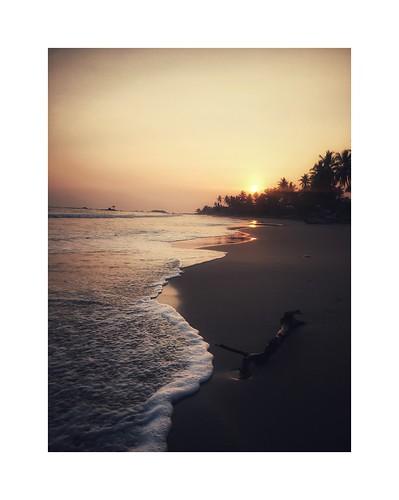 landscape sunset beach travel srilanka