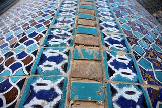 The intricate tile detail that gives Mazar-e Sharif's Blue Mosque. | by UN Assistance Mission in Afghanistan