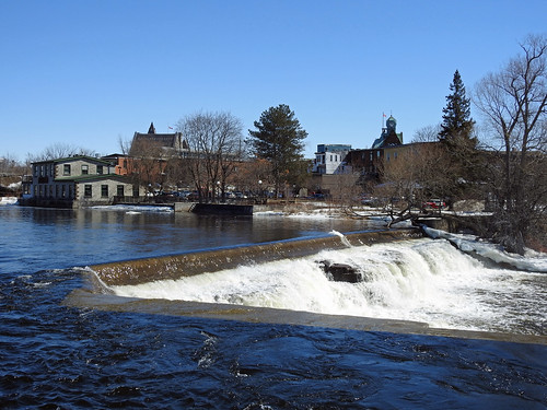 almonte ontario canada mississippimills spring printemps mississippiriver falls chutes mississippiironworks barleymowpub youngbrothersfoundry ironfoundry