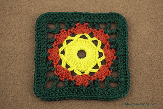 Crochet Framed Flower Square | by elsa.blueraindrops