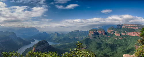 Panorama sur Blyde Canyon et the Three Rondavels