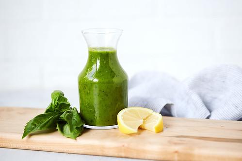 Lemon Basil Vinaigrette {paleo, keto, vegan, AIP, Whole30}   by Tasty Yummies