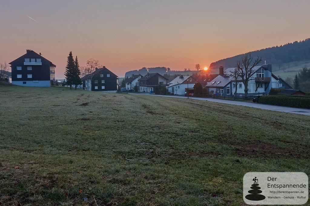 SunriseRun und Sonnenaufgang bei Ussel