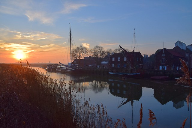 Early morning on the River Alde, at Snape, Suffolk. 17 02 2019