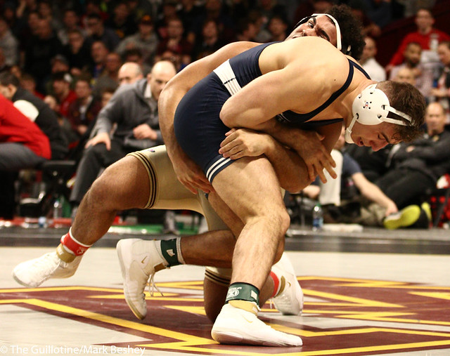 1st Place Match - Anthony Cassar (Penn State) 25-1 won by decision over Gable Steveson (Minnesota) 30-1 (Dec 4-3) - 190310dmk0199