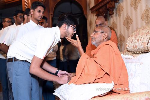 Std-10-11-12-visit-to-Haridham-for-Swamishree's-Blessings-(60) | by Atmiya Vidya Mandir
