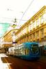 Blue tram by Matjaž Skrinar