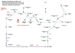 Manaslu Trek Schematic Map 2018 | by charlesng88